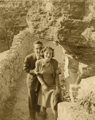 "Grandpa ""Louie"" and our Grandma Doris Honeymooning at Clifty Falls"